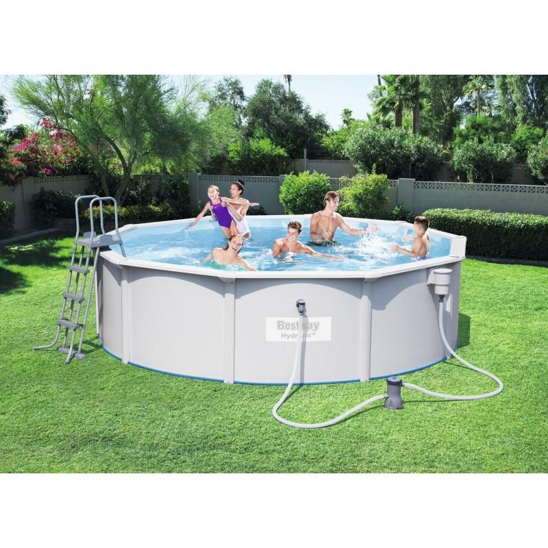 Kit piscine ronde steel wall pool for Liner piscine ronde 3 60