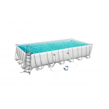 Kit Piscine Rectangulaire Power Steel Frame Pools L 732cm l 366cm h 132cm