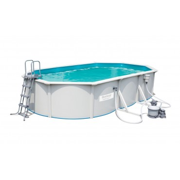 Kit Piscine Ovale Steel Wall Pool L 610 cm l 360 cm h 120 cm