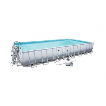 Kit Piscine Rectangulaire Power Steel Frame Pools L 956cm l 488cm h 132cm