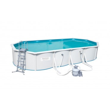 Kit Piscine Ovale Steel Wall Pool L 740 cm l 360 cm h 120 cm