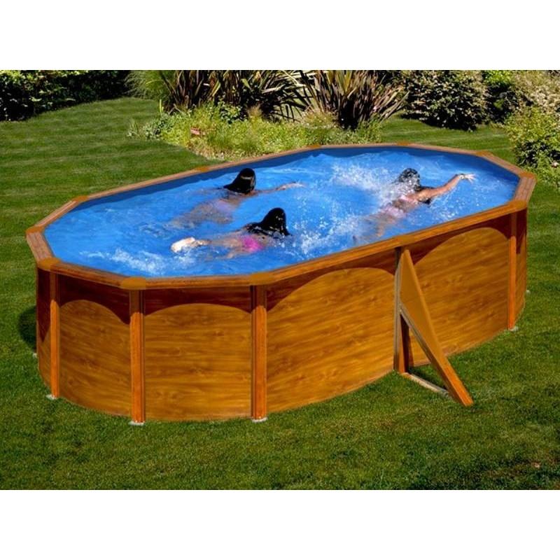 Kit piscine hors sol ovale mauritius livraison gratuite - Amenagement piscine hors sol acier ...