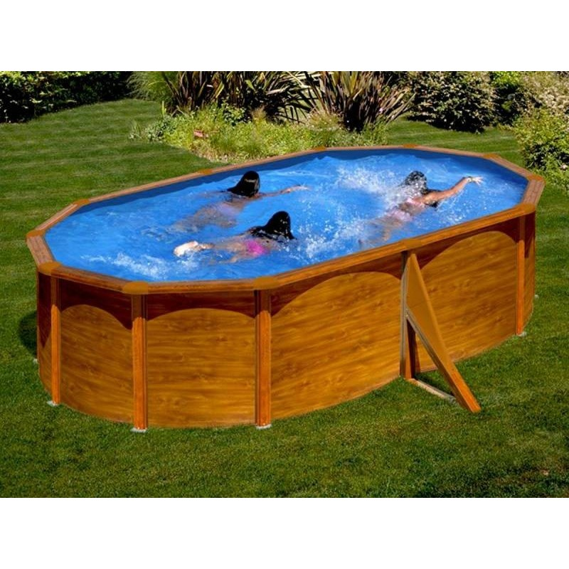 Kit piscine hors sol ovale mauritius livraison gratuite for Piscine hors sol marron