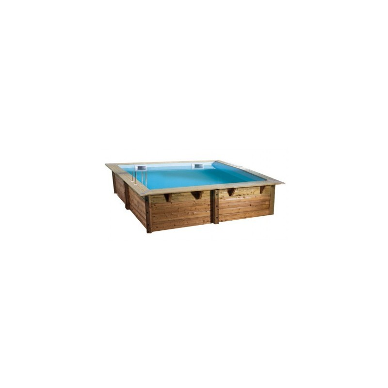 Piscine en bois carr e ubbink lin a 300 x 300 for Destockage piscine bois