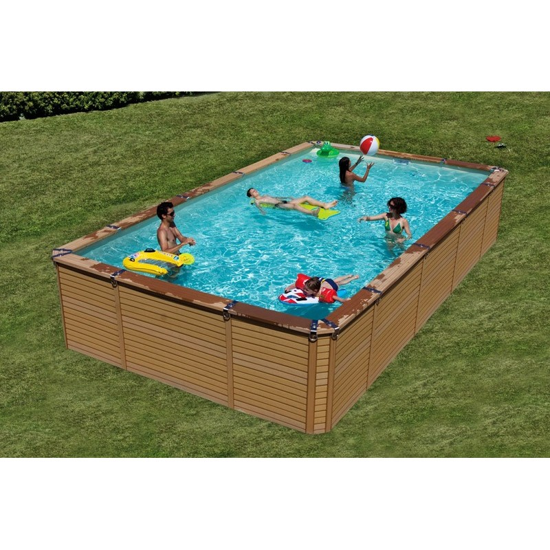 Kit piscine en bois azteck by waterman for Piscine composite hors sol