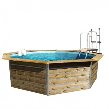 Piscine Bois WATER'CLIP (ex-Cristaline) soft wood hexagonale