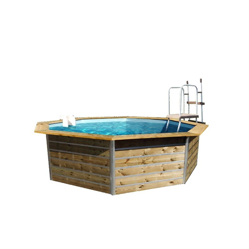 piscine bois water 39 clip hexagonale. Black Bedroom Furniture Sets. Home Design Ideas