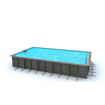Piscine Bois Water'Clip Optimum rectangulaire LEROS