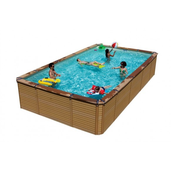 Kit piscine en bois azteck by waterman for Piscine en kit rectangulaire