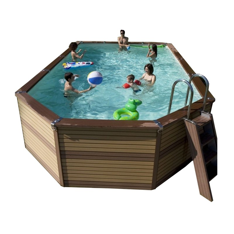 Kit piscine en bois azteck by waterman for Piscine hors sol 7 x 4