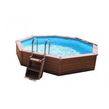 Kit piscine ronde semi-enterrée Azteck by Waterman D. 5,40 m