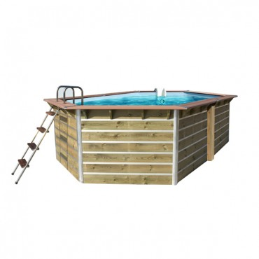 Piscine bois Water'Clip PREMIUM hexagonale allongée