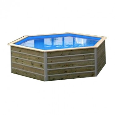 Piscine bois Water'Clip KID hexagonale