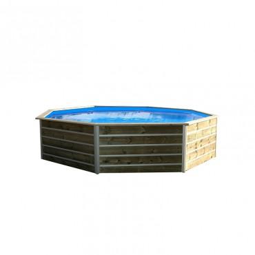 Piscine bois Water'Clip KID hexagonale