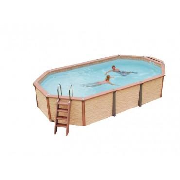 Kit piscine ronde semi-enterrée Azteck by Waterman