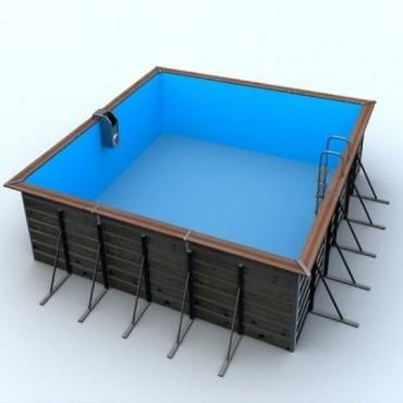 Piscine Bois Water'Clip Optimum carré