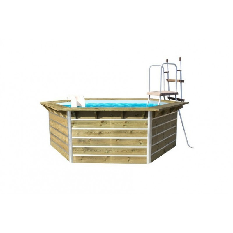 Piscine bois water 39 clip optimum octogonale for Piscine cristaline