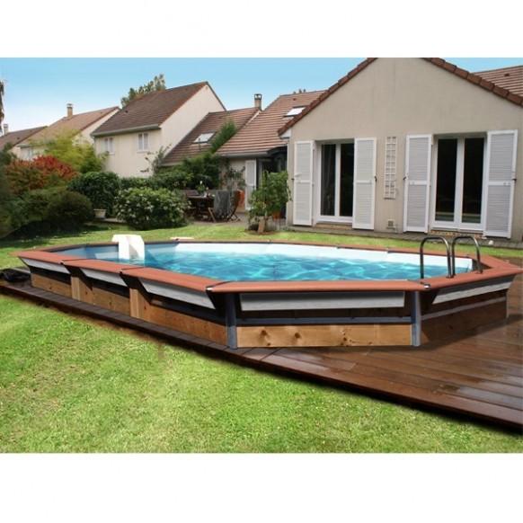 piscine bois water 39 clip optimum hexagonale allong e trinite. Black Bedroom Furniture Sets. Home Design Ideas