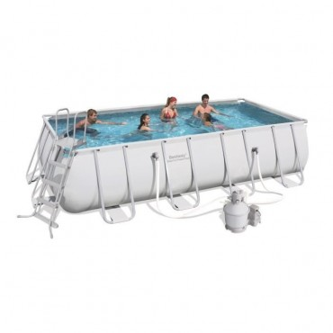 Kit Piscine Rectangulaire Power Steel Frame Pools L 549cm l 274cm h 122cm