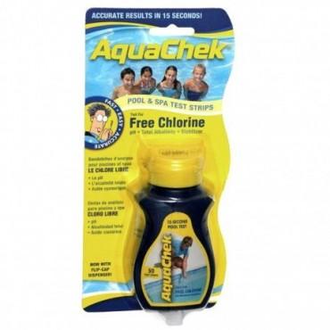 Boîte de 50 bandelettes de test Aquachek jaune 4-en-1