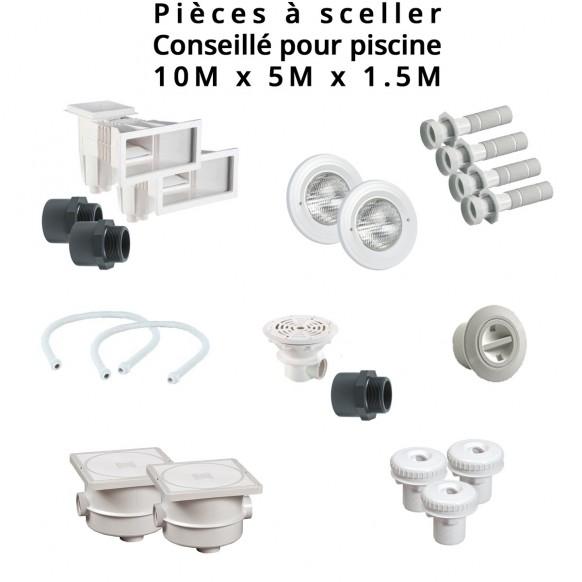 Kit Pièces à Sceller Béton Liner, Piscine 10 X 5 M, Couleur Au Choix