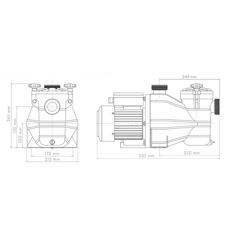 Vipool Pompe Filtration Vipool Mcb Mono 0,33 Cv