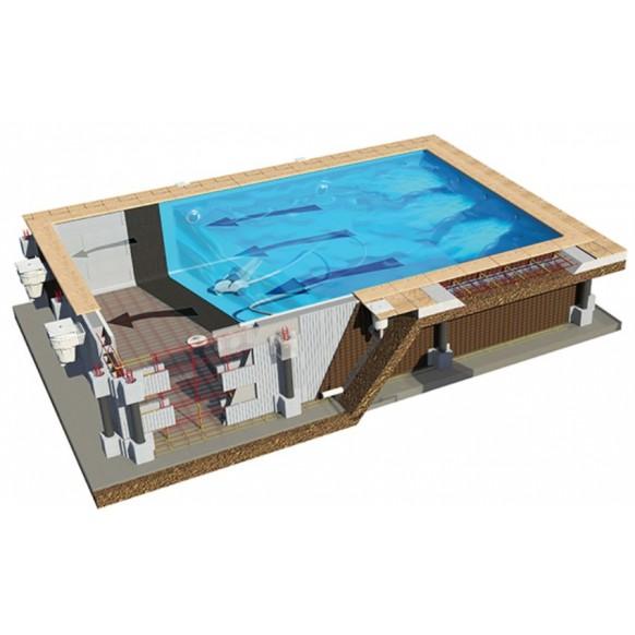 Kit piscine rectangulaire blocs polystyr ne haute densit for Kit piscine polystyrene