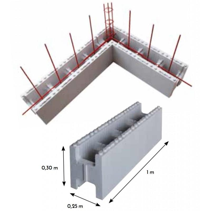Kit structure piscine rectangulaire en blocs polystyr ne - Kit piscine polystyrene ...