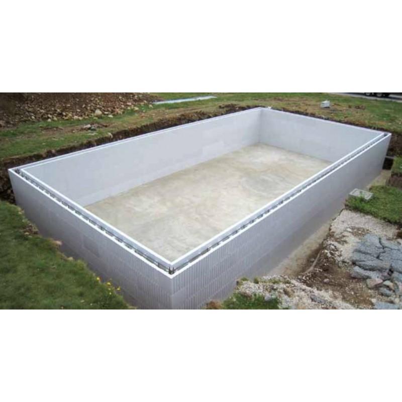 Kit piscine rectangulaire en blocs polystyr ne de 1 m tre - Kit piscine polystyrene ...