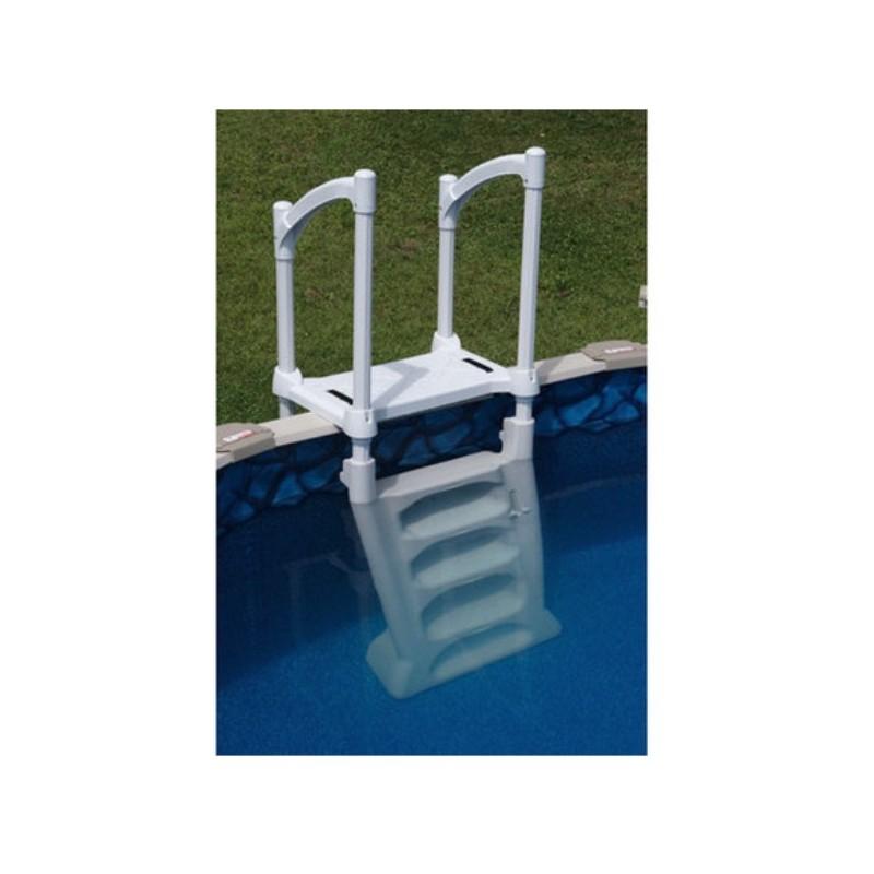 echelle double escalier h2o piscine hors sol s curit enfant livraison gratuite. Black Bedroom Furniture Sets. Home Design Ideas