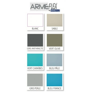 Liner PVC armé 150/100e uni antidérapant Armeflex Astral 16,5 m2