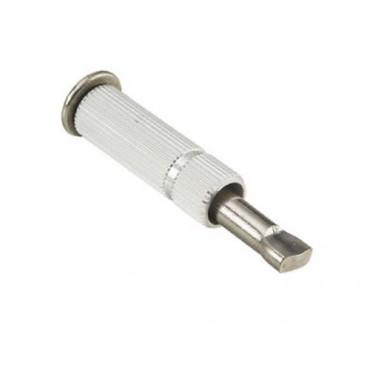Piton douille rétractable alu-inox D.10mm
