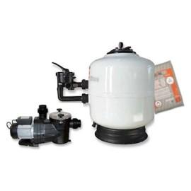 Kit filtration avec charge filtrante
